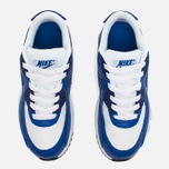 Детские кроссовки Nike Air Max 90 Leather PS White/Deep Royal Blue/Black фото- 4