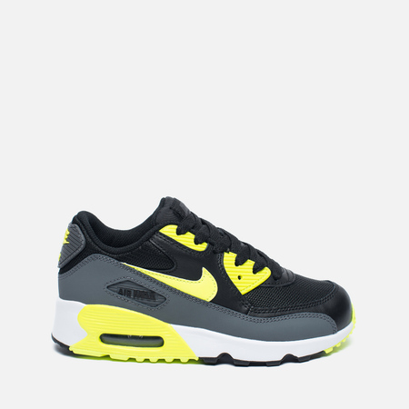 Детские кроссовки Nike Air Max 90 Mesh PS Black/Volt/Dark Grey/White