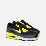 Детские кроссовки Nike Air Max 90 Mesh PS Black/Volt/Dark Grey/White фото- 2