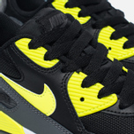 Детские кроссовки Nike Air Max 90 Mesh PS Black/Volt/Dark Grey/White фото- 3