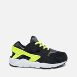 Детские кроссовки Nike Huarache Run PS Black/Dark Grey/White/Volt фото- 0