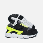 Детские кроссовки Nike Huarache Run PS Black/Dark Grey/White/Volt фото- 1