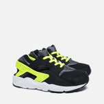 Детские кроссовки Nike Huarache Run PS Black/Dark Grey/White/Volt фото- 2