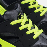 Детские кроссовки Nike Huarache Run PS Black/Dark Grey/White/Volt фото- 3