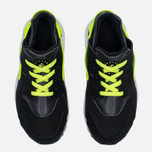 Детские кроссовки Nike Huarache Run PS Black/Dark Grey/White/Volt фото- 4