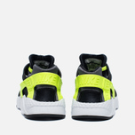 Детские кроссовки Nike Huarache Run PS Black/Dark Grey/White/Volt фото- 5