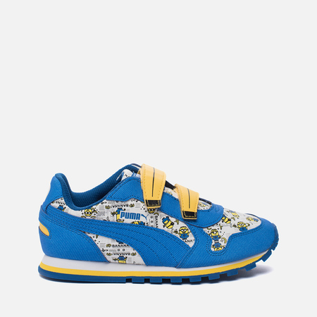 Детские кроссовки Puma x Minions ST Runner V PS White/Lapis Blue/Minion Yellow