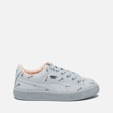 Детские кроссовки Puma x tinycottons Basket Canvas PS Illusion Blue