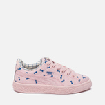 Детские кроссовки Puma x tinycottons Basket Canvas PS Pink Dogwood фото- 0