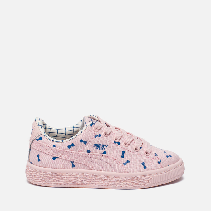 Детские кроссовки Puma x tinycottons Basket Canvas PS Pink Dogwood