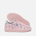 Детские кроссовки Puma x tinycottons Basket Canvas PS Pink Dogwood фото- 1