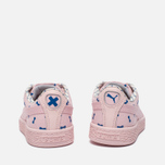 Детские кроссовки Puma x tinycottons Basket Canvas PS Pink Dogwood фото- 3