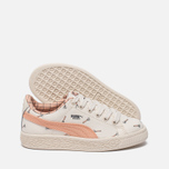 Детские кроссовки Puma x tinycottons Basket Canvas PS Whisper White/Peach Nougat фото- 1