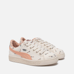 Детские кроссовки Puma x tinycottons Basket Canvas PS Whisper White/Peach Nougat фото- 2
