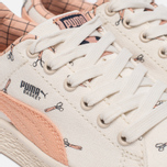 Детские кроссовки Puma x tinycottons Basket Canvas PS Whisper White/Peach Nougat фото- 5