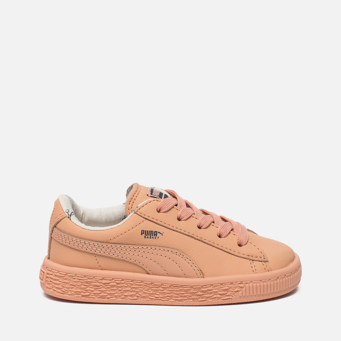 Кроссовки для малышей Puma x tinycottons Basket Leather Infant Peach Nougat