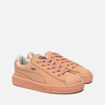 Кроссовки для малышей Puma x tinycottons Basket Leather Infant Peach Nougat фото- 2