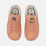 Кроссовки для малышей Puma x tinycottons Basket Leather Infant Peach Nougat фото- 4