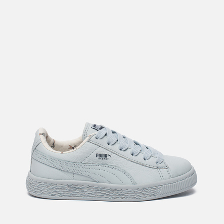 Детские кроссовки Puma x tinycottons Basket Leather PS Illusion Blue