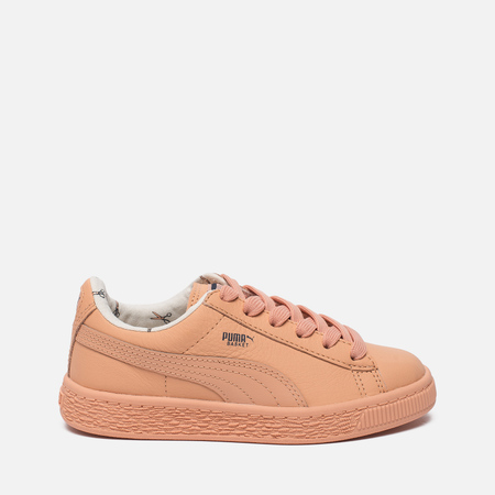 Детские кроссовки Puma x tinycottons Basket Leather PS Peach Nougat