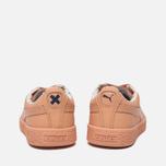 Детские кроссовки Puma x tinycottons Basket Leather PS Peach Nougat фото- 3