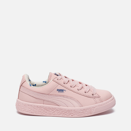 Детские кроссовки Puma x tinycottons Basket Leather PS Pink Dogwood