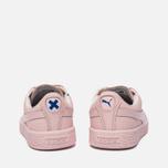 Детские кроссовки Puma x tinycottons Basket Leather PS Pink Dogwood фото- 3