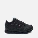 aff9b4fa5106 Детские кроссовки Reebok Classic Leather Black фото- 0