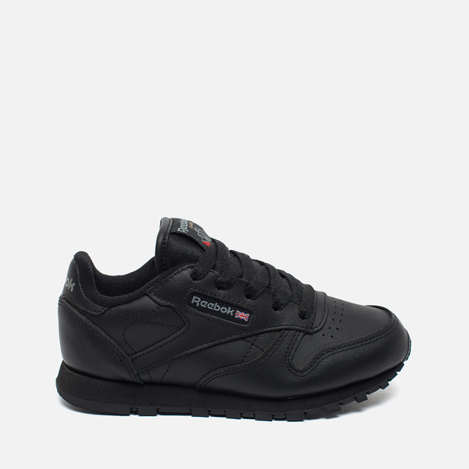 bd2c83ebea28 Детские кроссовки Reebok Classic Leather Black ...