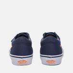 Детские кеды Vans Old Skool V Canvas Crown Blue/Mandarin Orange фото- 3
