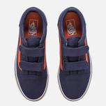 Детские кеды Vans Old Skool V Canvas Crown Blue/Mandarin Orange фото- 4