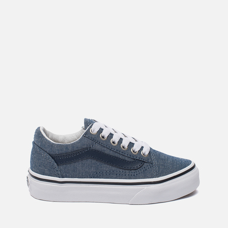 Детские кеды Vans Old Skool C&L Chambray/Blue