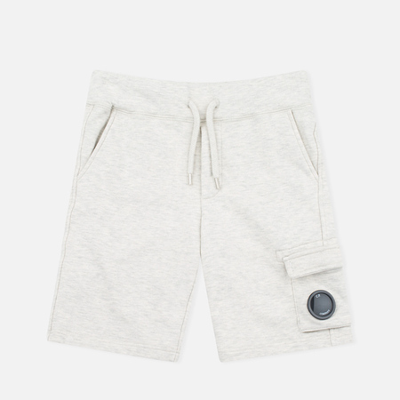 C.P. Company U16 Bermuda Lens Children's Shorts Melange Grey