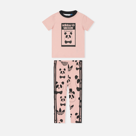 Детский костюм adidas Originals x Mini Rodini Graphic Set Pink Spirit/Black