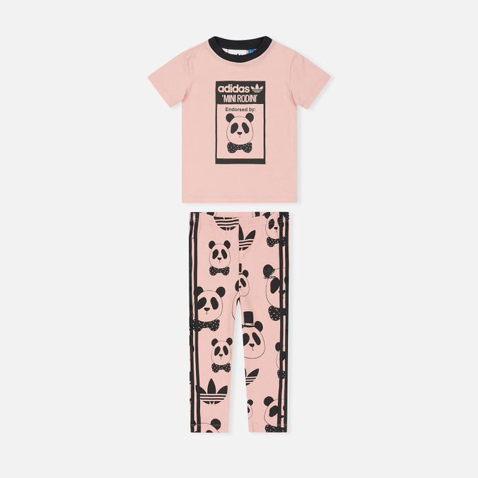 Детский костюм adidas Originals x Mini Rodini Graphic Set Pink Spirit/Black