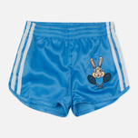 Детский костюм adidas Originals x Mini Rodini Shorts Set Off White/Joy Blue фото- 3