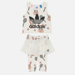 Детский костюм adidas Originals x Mini Rodini Skirt Set Off White/Multicolor фото- 0