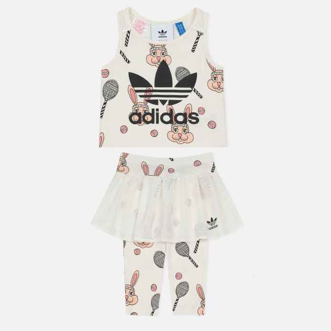 Детский костюм adidas Originals x Mini Rodini Skirt Set Off White/Multicolor
