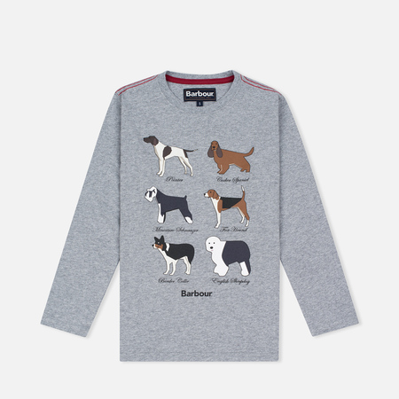 Barbour Hound Dog Top Children's Longsleeve Grey Marl