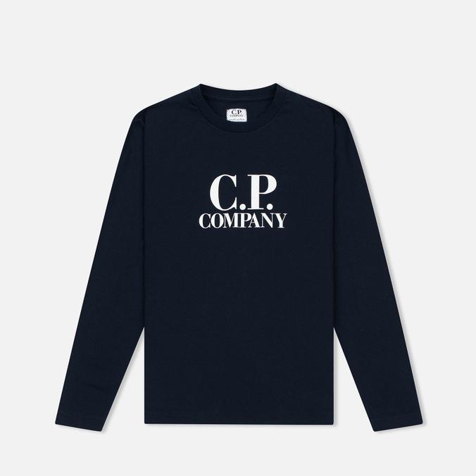 Детский лонгслив C.P. Company U16 Back Print Google Blue