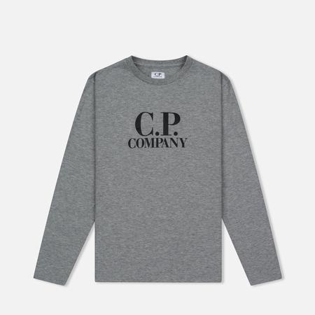 Детский лонгслив C.P. Company U16 Back Print Google Grey