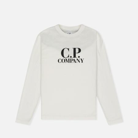 Детский лонгслив C.P. Company U16 Back Print Google White