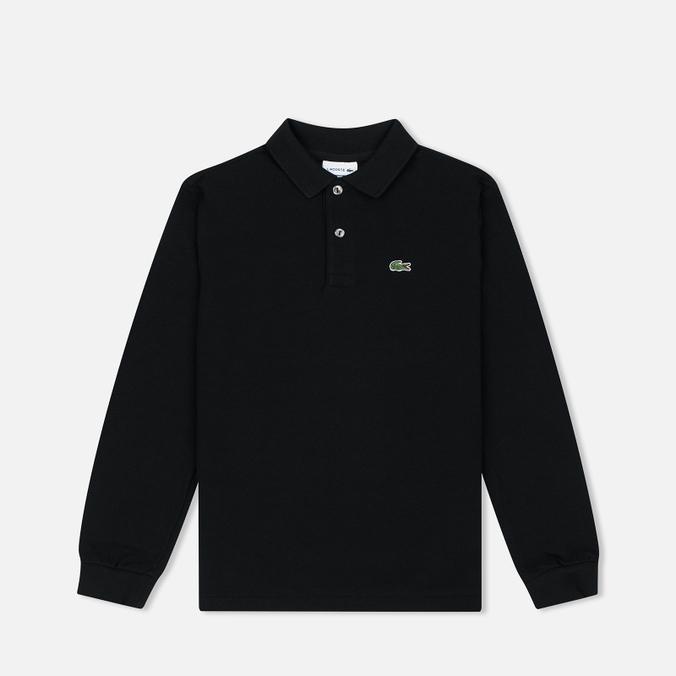 Детский лонгслив Lacoste Classic LS Pique Polo Black