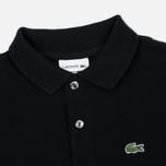 Детский лонгслив Lacoste Classic LS Pique Polo Black фото- 1