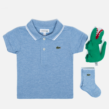 Детский набор Lacoste Infants Pale Blue Polo and Socks Gift Set