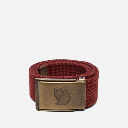 Детский ремень Fjallraven Canvas Brass Deep Red