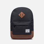 Детский рюкзак Herschel Supply Co. Heritage 9L Black/Tan Synthetic Leather фото- 0