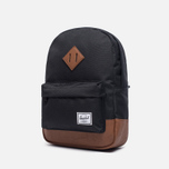Детский рюкзак Herschel Supply Co. Heritage 9L Black/Tan Synthetic Leather фото- 1