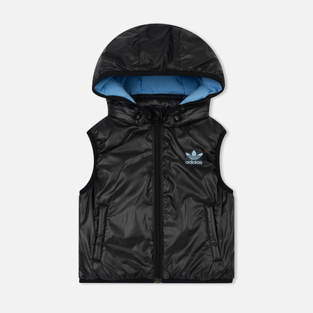 Детский жилет adidas Originals x Mini Rodini Hoodie Black/Bahia Light Blue