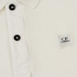 Детское поло C.P. Company U16 Basic Pique Mini Logo Tapioca White фото- 2
